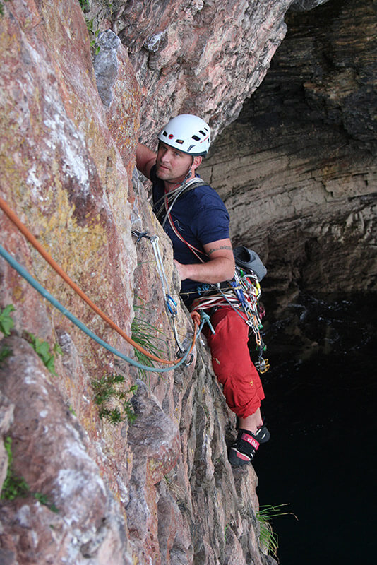Rock climbing in Devon