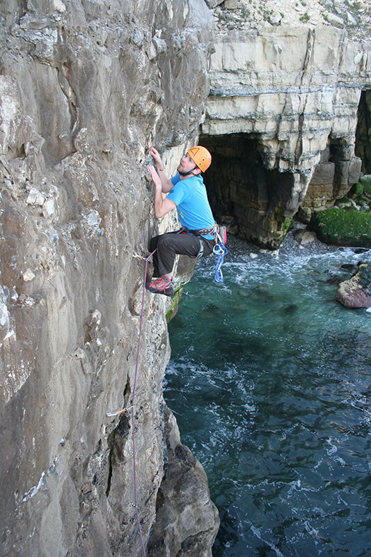 Rock climbing Dorset