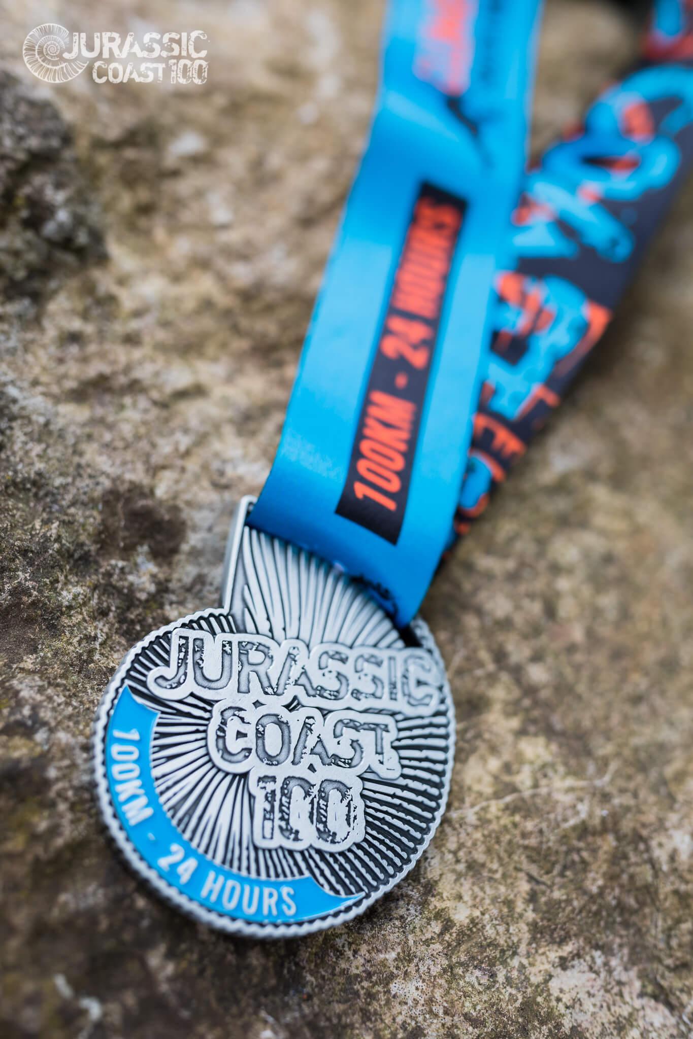 Jurassic Coast 100 medal